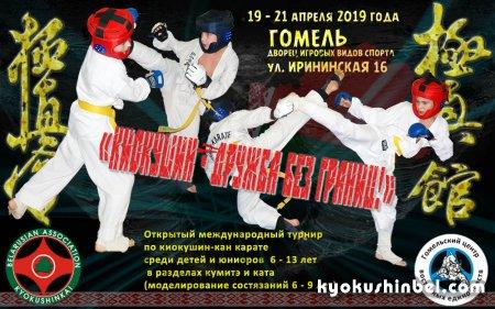 Скоро открытый международный турнир по карате «Киокушин - дружба без границ!» в Гомеле