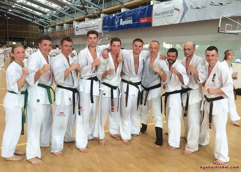 Белорусские каратисты прошли учебно-тренировочный тест 30 боев по 2 мин в Камчии, Болгария